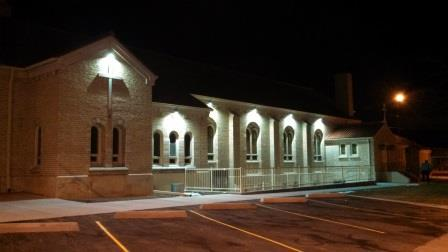 St Mary S Catholic Church Exterior Led Lights Adams